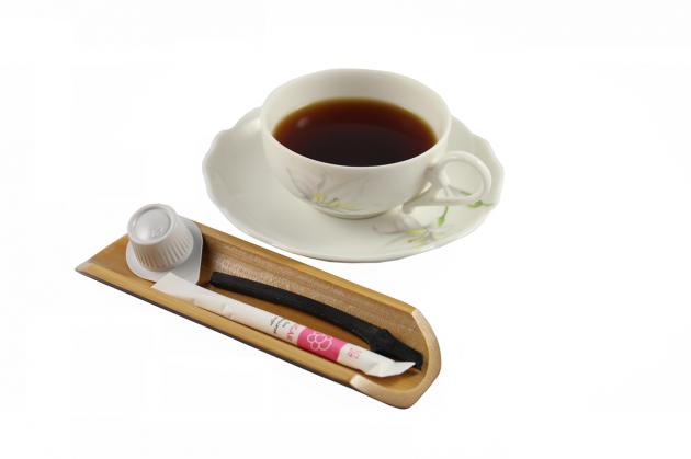 煙燻竹製置物盤 5